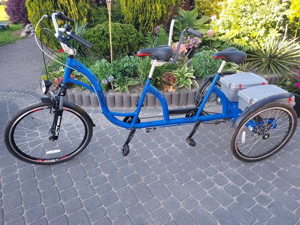 Trotuar rower tandem trójkołowy / trójkołowiec