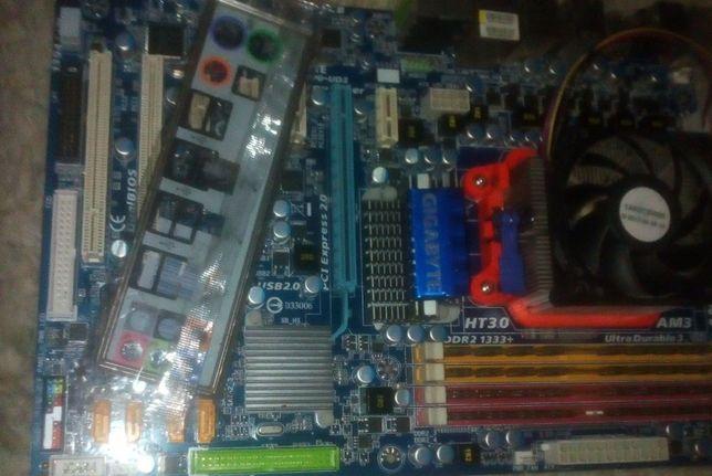 Комплект GA-MA770-UD3 rev2.0 (140W CPU) sAM3 +8гб озу+Athlon 635 4ядрa