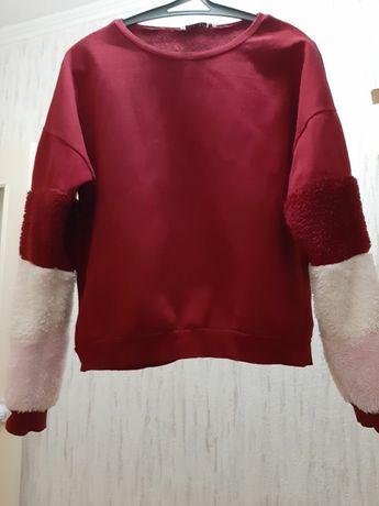 Свитшот женский бордовый