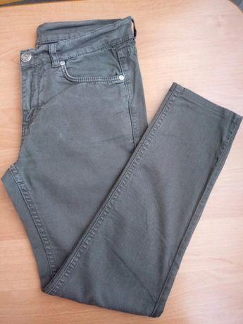 Spodnie rurki slim khaki 8 36 S Oasis