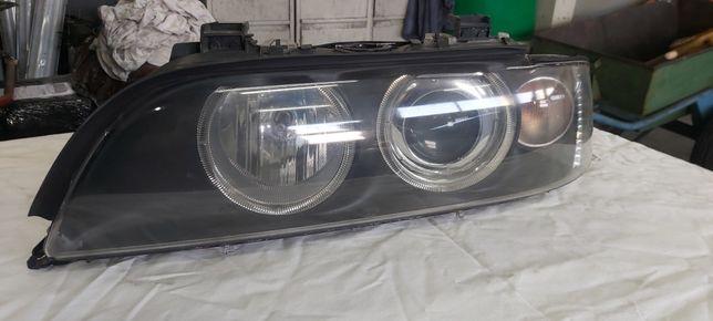 BMW E39 lampy przód lift hella xenon ringi
