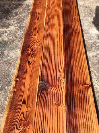 Deska tarasowa modrzewiowa postarzana opalana rustykalna