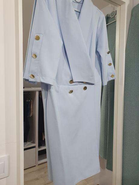 Sukienka niebieska idealna 38