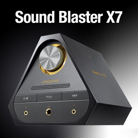 """Placa de som externa com DAC """"Sound Blaster X7 USB-DAC"""""""