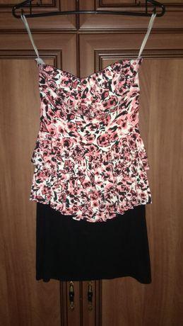 Sukienka New Look r.36 baskinka w kwiaty