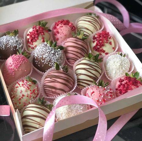 Подарок клубника в шоколаде для любимых