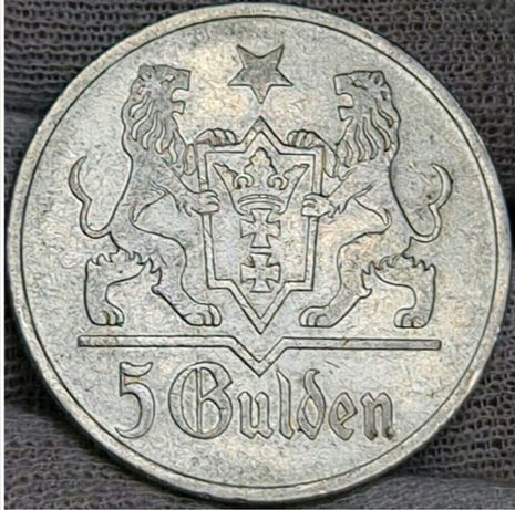 Gulden 1923r. Gdańsk