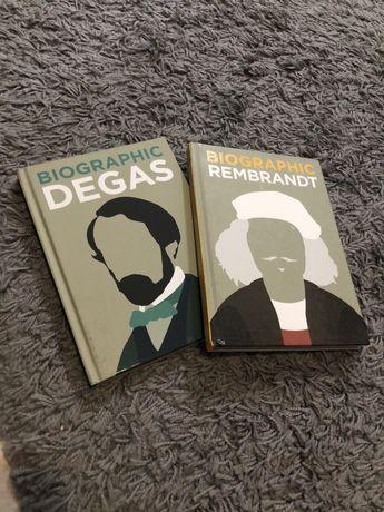 Biografias livros design Rembrant Degas Infografia