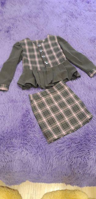 Пиджак юбка жилетка 1-2 класс
