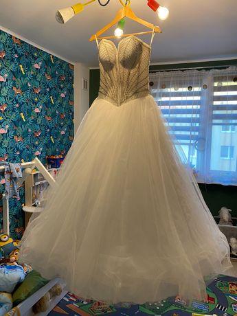 Suknia ślubna księżniczka Demi kryształki