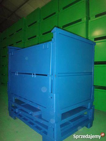 Gitterbox składany oblachowany paleta metalowa pojemnik
