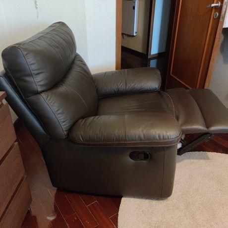 Sofa, Poltrona em Pele Sharona (conforama)
