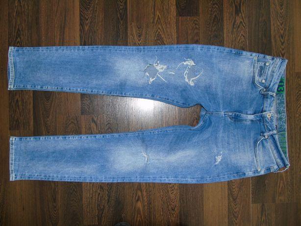 Superdry Tyler 34/34 Spodnie Piękne Slim Dziury