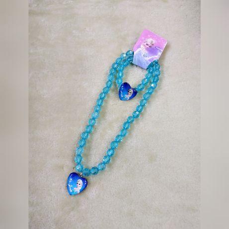 NOWA Biżuteria Kraina Lodu Elsa naszyjnik+bransoletka
