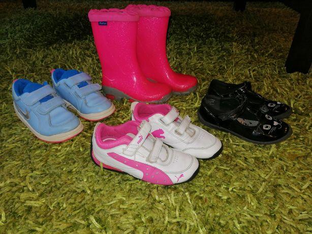 Buty Nike, Puma  kalosze balerinki dla dziewczynki rozm 26
