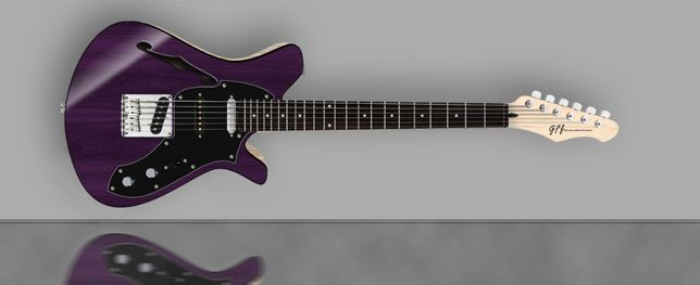Gitara elektryczna GFF Stellar Semi-hollow PR GFF Handcrafted Guitars