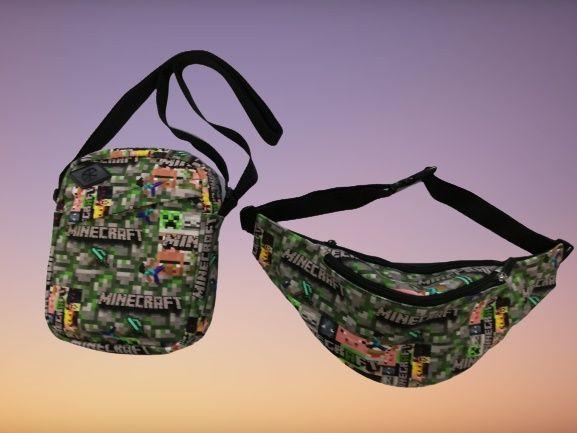 MINECRAFT zestaw saszetka plus torba MINECRAFT shoulder bag nerka