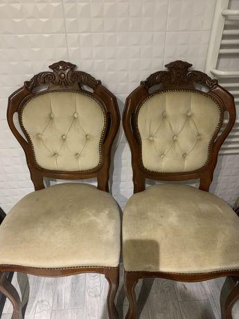 Krzesła Ludwik pikowane