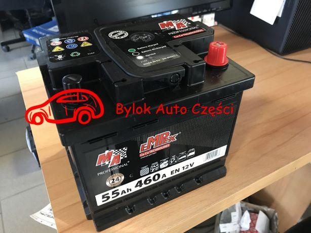 """AKUMULATOR 55AH/460A """"Moje Auto"""" NOWY!!! Prawy+ """"Bylok Auto Części"""""""