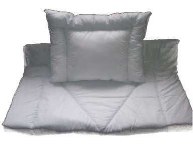 Kołderka 120x90 z poduszką 60x40 biała