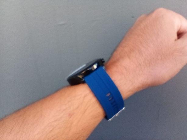 Smartwatch com chamadas via bluetooth (novo) roxo