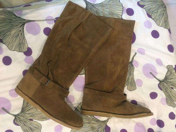 Buty saszki 41 26cm, damskie, NOWE, piaskowy, brąz jesień zima, kozaki