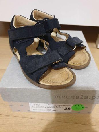 Sandałki mrugała 28 skórzane sandały