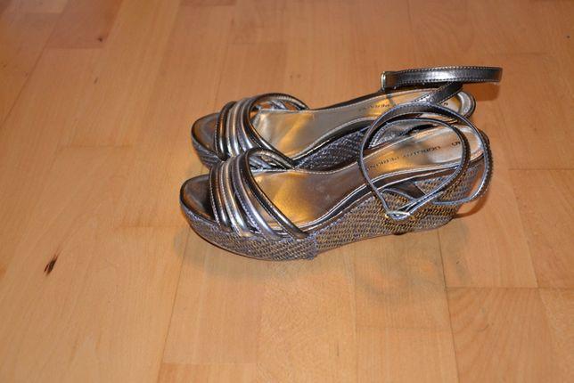 Dorothy Perkins sandały na koturnie roz 38 (5) złote