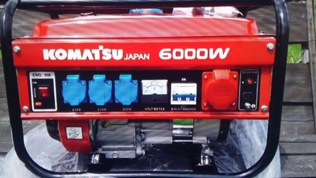 электро генератор KAMATSU 6000 W новый