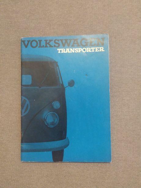 """Manual Instruções Volkswagen Transporter Split """"Pão de Forma"""" 64/65"""
