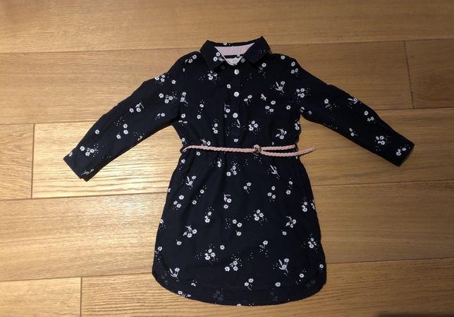 Sukienka szmizjerka H&M oraz rozkloszowana F&F