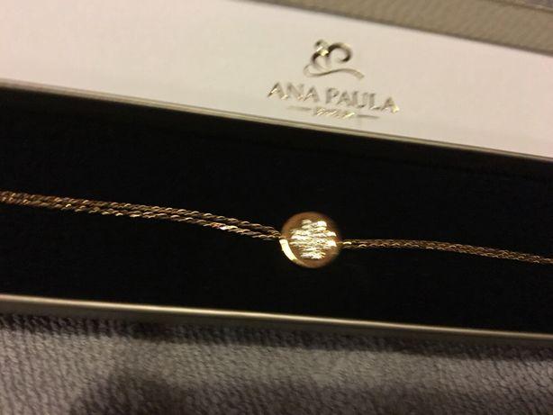 Vendo pulseira de prata dourada