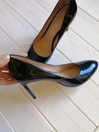 Туфли черно-синие Respect