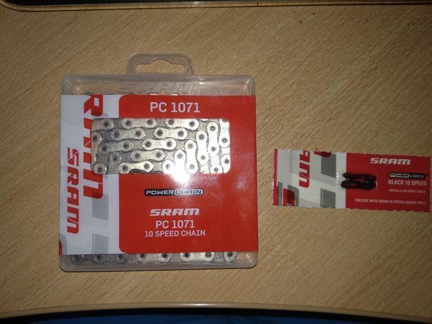 Продам - велосипедную цепь SRAM PC 1071, 10 скоростей, HollowPin