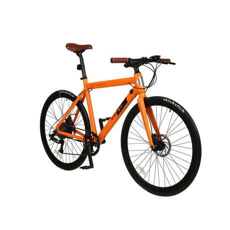 Rower elektryczny Workout iamelectric szosowy pomarańczowy