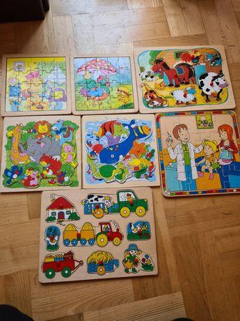 Układanki drewniane dla dzieci
