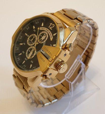 Zegarek DIESEL DZ 4344 złoto-czarny bransoleta