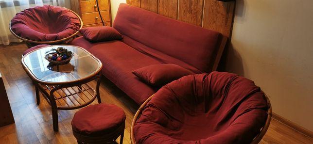 Komplet wypoczynkowy ze stolikiem /funkcja spania