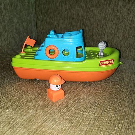 Катер, корабль игрушечный, пластиковый