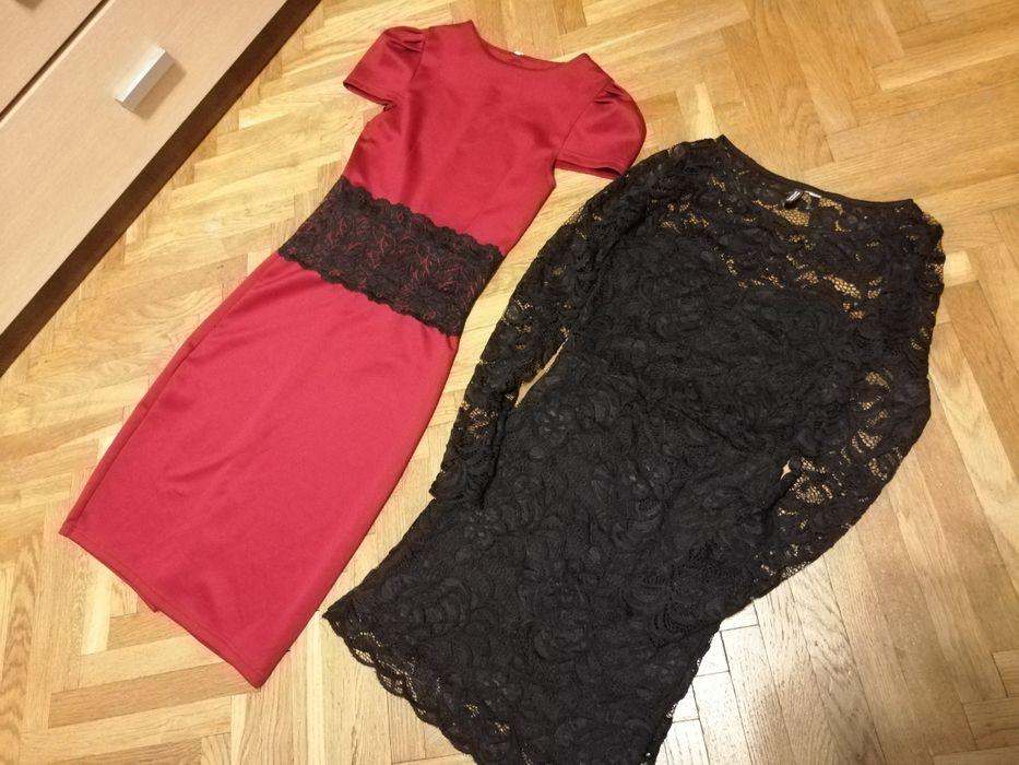 Sexy, eleganckie sukienki, czarna koronką, mała czarna xs, 34 Olsztyn - image 1
