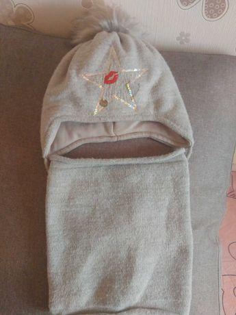 Комлект шапка с хомутом зимние