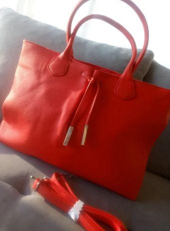 Torebka shopper czerwona A4