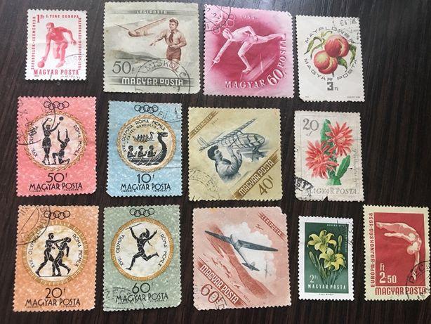Почтовые марки Венгрия / Египет / Монголия