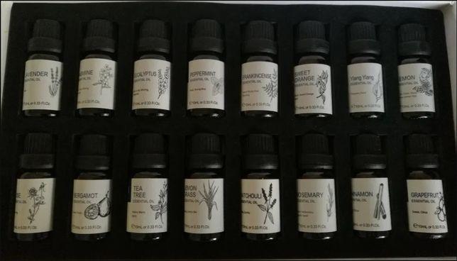 Caixa com 13 óleos essenciais puros