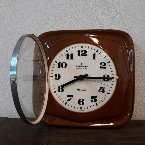 Zegar ścienny Junghans porcelanowy kwarcowy, automat
