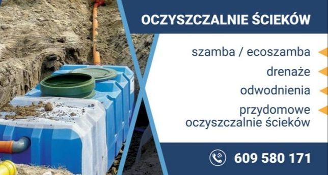 usługi ,odwodnienia drenaz opaskowy  usługi wodno Kanalizacyjne itp...