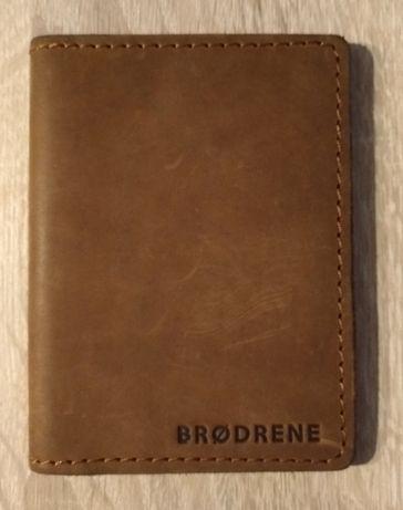 Brodrene - skórzany, cienki portfel