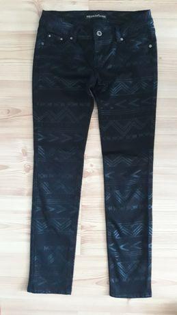 spodnie czarne jeans wzor rozm.s