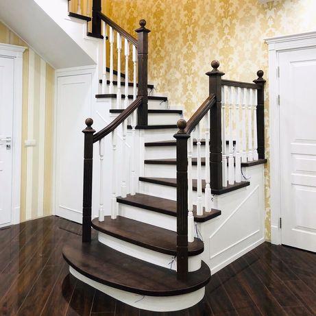 Изготовление лестниц под заказ. Облицовка, обшивка древом
