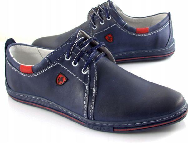 PÓŁBUTY buty MĘSKIE skóra naturalna rozm od 37 do 48